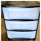 Plastic Sterlite 3 Drawer Roll Around Storage Bin