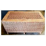 Cute Wicker Like Trunk with Lid AND CONTENTS