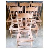 Vintage Lot of 6 Highback Oak Project Chairs