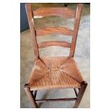 Vintage Laddetback Woven Seat Chair