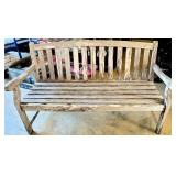 Primitive Style Wooden Bench