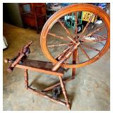 Beautiful Antique Wooden Spinning Wheel