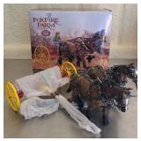 Ertl Foxfire farm new porcelain horse set