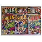 Lot of 6 marvels Hulk comics
