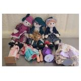 Lot of several dolls