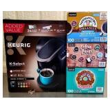 Keurig K Select Coffee Maker & 3 Boxes of Coffee