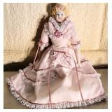 Victorian Style Porcelain Collectible Doll