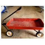 Vintage Red Metal Wagon