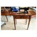 Vintage Singer Sewing Machine & Table