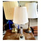 Estate Lot of Vintage Misc Decorative Lamps