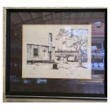 "Signed Lake ""Washday"" print 3/500"