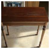 Short wood table