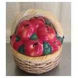Ceramic cookie jar basket shaped
