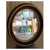 Vintage wood frame small mirror