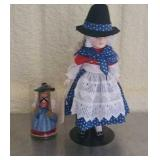 Lot of 2 rubber dolls