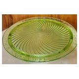 White Lily Flour Green cake plate