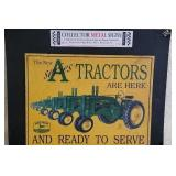 John Deere Series A Tractors Metal Decorative Sign