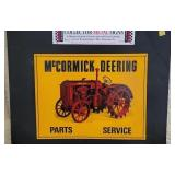 Metal McCormick Deering Parts Service Sign