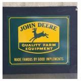 John Deere metal sign