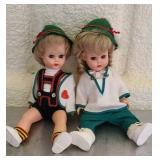 Lot of 2 plastic dolls