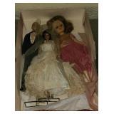 Vintage box of dolls