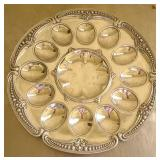 Juan Vela Pewter egg tray