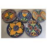 Lot of 5 decorative plates