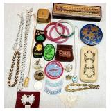 Vintage Patches, Knives, Jewelry, Makeup Compacts