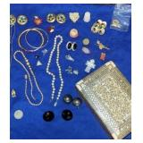 Estate lot of costume jewelry,