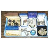 Estate lot of costume jewelry and some sterling