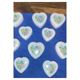 Lot of 10 heart shaped trinket boxes
