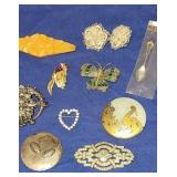 Estate lot of jewelry,  some sterling