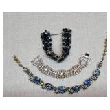 Vintage Lot of Bejeweled Costume Jewelry