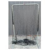 Metal frame catching net