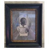 Antique framed photo