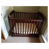 Wooden Roll Around Baby Bed/Crib