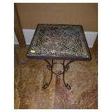 Stunning Wood Carbed Small Square Side Table