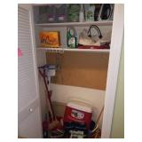 Laundry Room Closet Full of Household Items