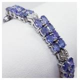 Silver Tanzanite Bracelet 11.2 cts