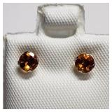 14K  Citrine(0.4ct) Earrings