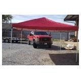 Large pop up canopy approx 11x11 as is