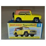 Vintage Matchbox Superfast Field Car 18 in Box