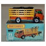 Vintage Matchbox Cattle Truck 71 in Box