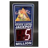 Beautiful camel state lotto jackpot sign