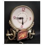 Vintage Schlitz light up clock
