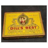 Vintage metak Dills Best Smokint Tobacco can