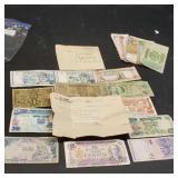 Lot of antique money