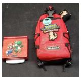 Nintendo Game Boy Advanced SP with a carrying case