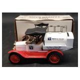 Vintage die-cast 1918 tanker bank