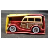 Vintage durable plastic Buddy L woody wagon
